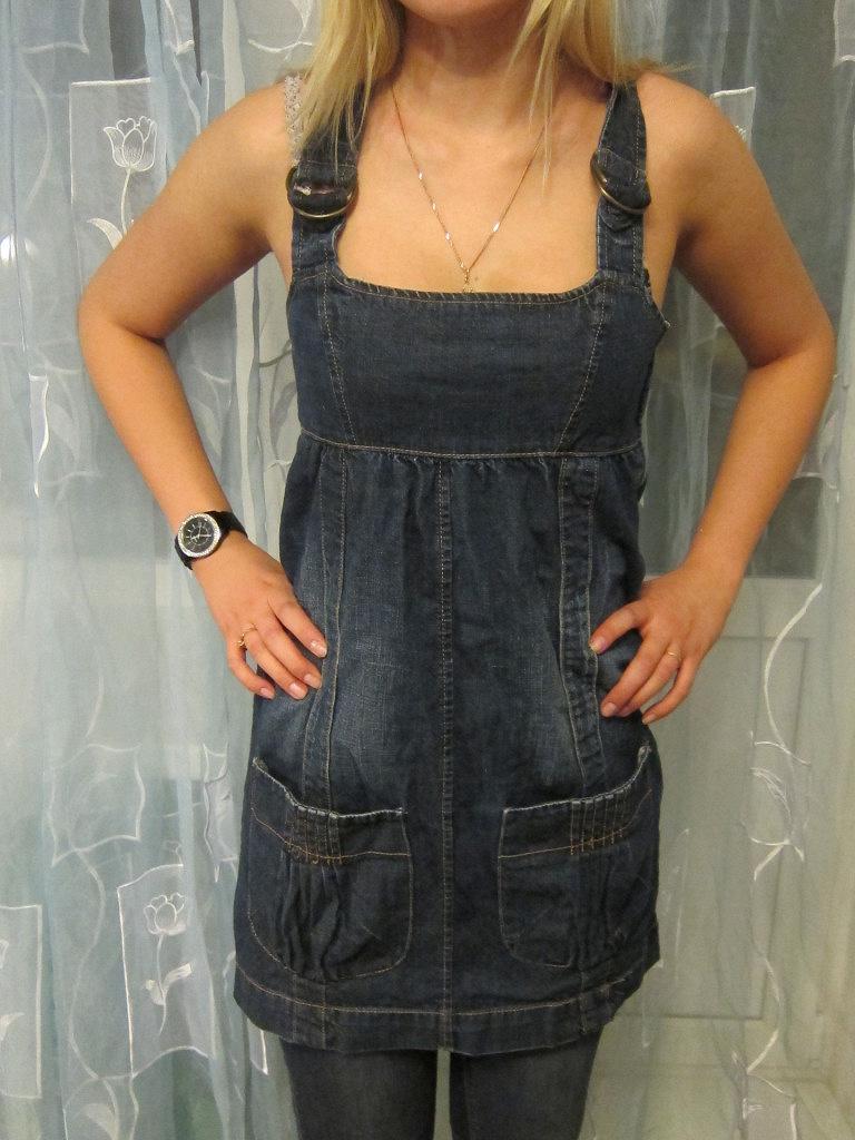 Джинсовый сарафан своими руками из старых джинсов